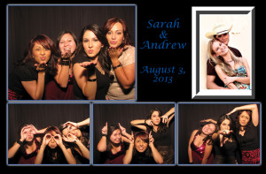 A sample picture layout from Colorado wedding photo booth company Amore Interactive photo booth