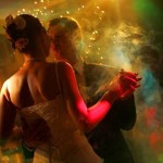 Creating a night club feel at a wedding with dazzling lights, fog and lots of fun